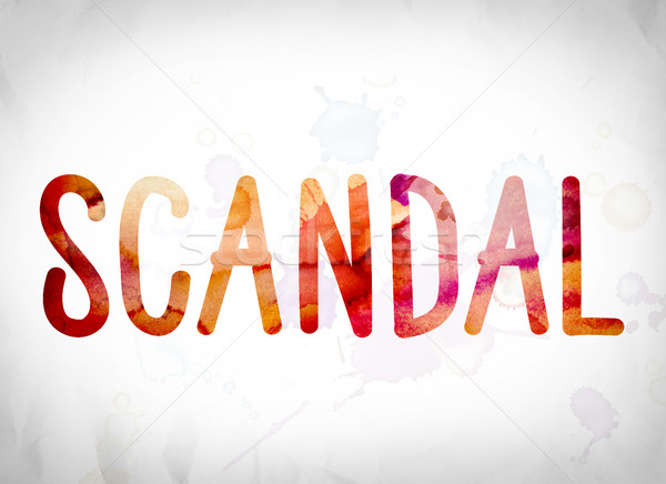 Scandal Concept Watercolor Word Art Stock photo © enterlinedesign