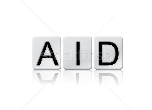 Aid Isolated Tiled Letters Concept and Theme Stock photo © enterlinedesign