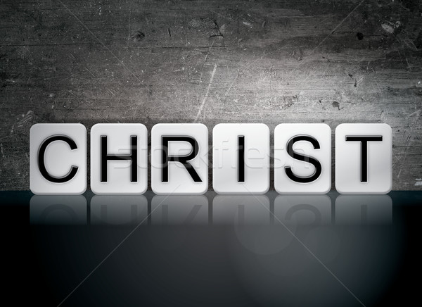 Christ Tiled Letters Concept and Theme Stock photo © enterlinedesign