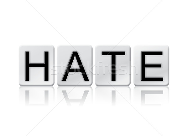 Hate Isolated Tiled Letters Concept and Theme Stock photo © enterlinedesign