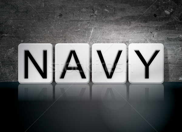 Navy Tiled Letters Concept and Theme Stock photo © enterlinedesign
