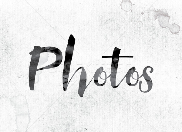Photos Concept Painted in Ink Stock photo © enterlinedesign