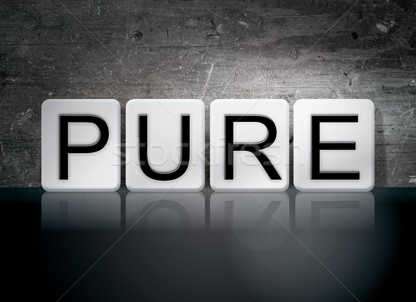Piastrellato lettere parola scritto bianco Foto d'archivio © enterlinedesign