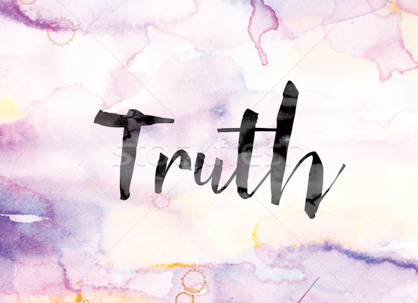 Truth Colorful Watercolor and Ink Word Art Stock photo © enterlinedesign