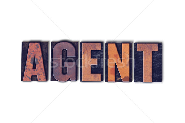 Agent Concept Isolated Letterpress Word Stock photo © enterlinedesign