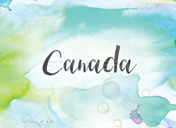Canada Concept Watercolor and Ink Painting Stock photo © enterlinedesign