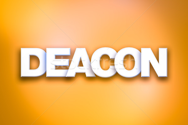 Deacon Theme Word Art on Colorful Background Stock photo © enterlinedesign