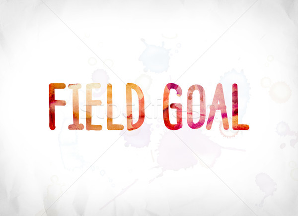 Field Goal Concept Painted Watercolor Word Art Stock photo © enterlinedesign