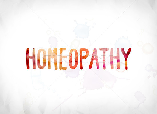 Homeopathy Concept Painted Watercolor Word Art Stock photo © enterlinedesign