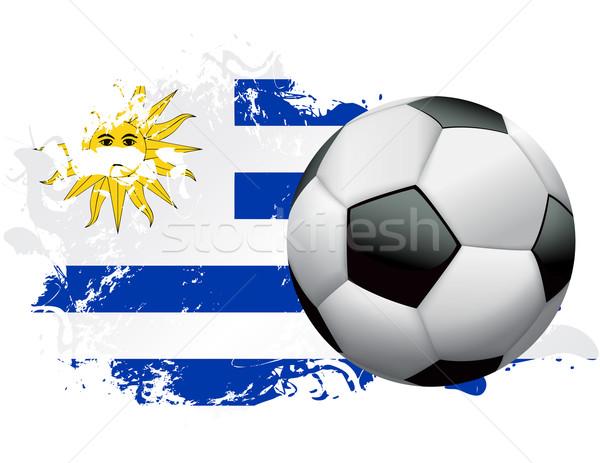 Uruguay futball grunge terv futballabda zászló Stock fotó © enterlinedesign