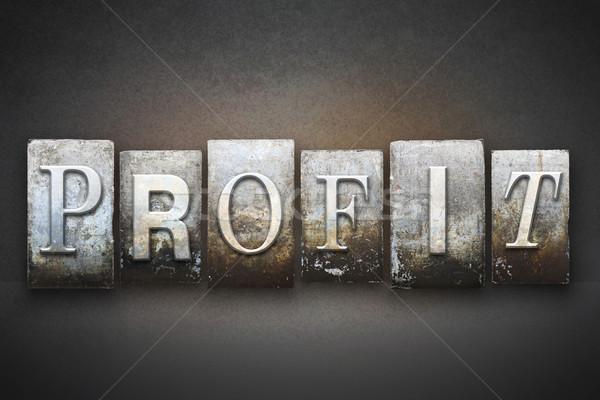 Profit Letterpress Stock photo © enterlinedesign