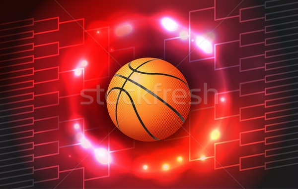 Basketball Tournament Bracket Illustration Stock photo © enterlinedesign