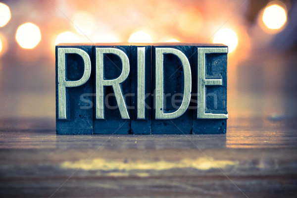 Pride Concept Metal Letterpress Type Stock photo © enterlinedesign