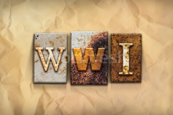 WWI Concept Rusted Metal Type Stock photo © enterlinedesign