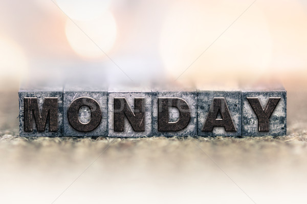 Monday Concept Vintage Letterpress Type Stock photo © enterlinedesign