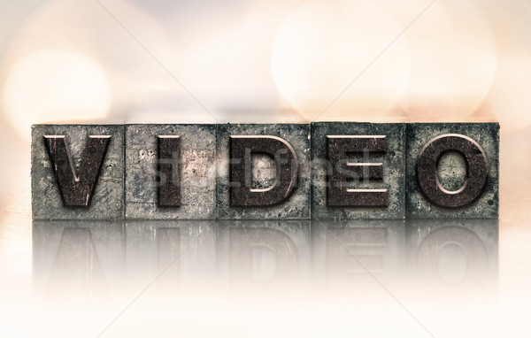 Video Concept Vintage Letterpress Type Stock photo © enterlinedesign