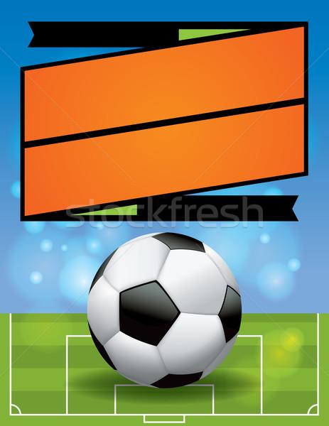 вектора Футбол лига Flyer иллюстрация американский Сток-фото © enterlinedesign