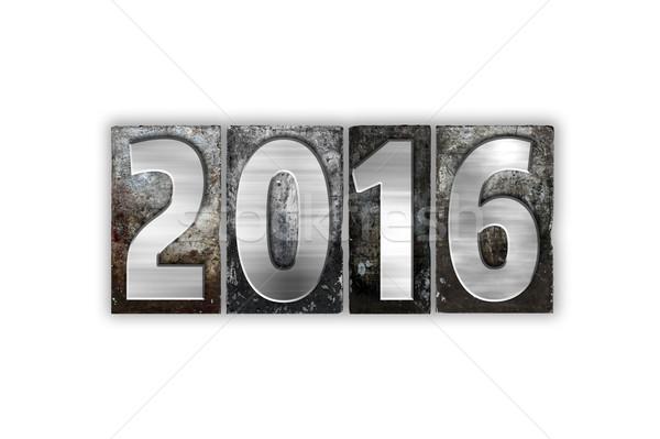 2016 孤立した 金属 タイプ 言葉 ストックフォト © enterlinedesign
