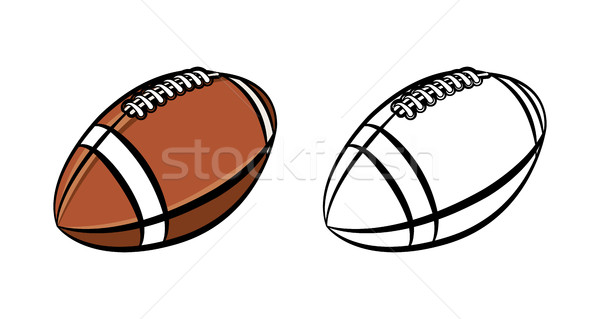 Amerikan futbol top örnek siyah beyaz renk Stok fotoğraf © enterlinedesign