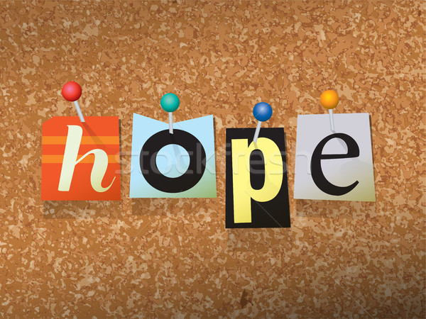 Hope Pinned Paper Concept Illustration Stock photo © enterlinedesign