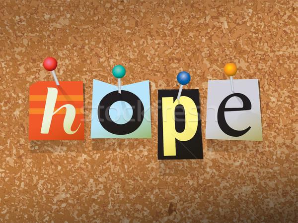 Remény papír illusztráció szó írott vág Stock fotó © enterlinedesign
