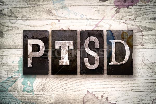 PTSD Concept Metal Letterpress Type Stock photo © enterlinedesign