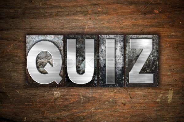 Quiz metal tipo parola scritto Foto d'archivio © enterlinedesign