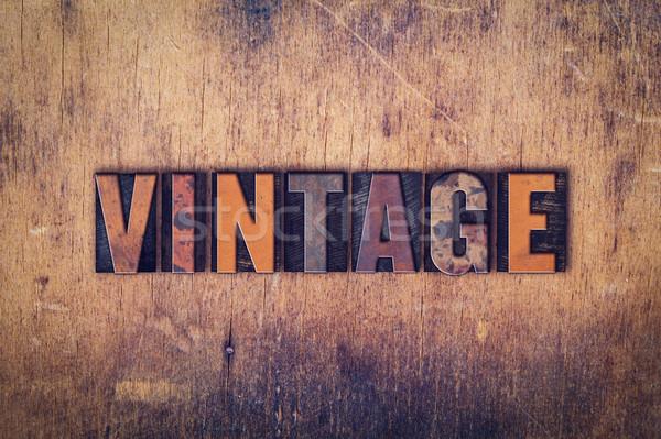 Vintage Concept Wooden Letterpress Type Stock photo © enterlinedesign