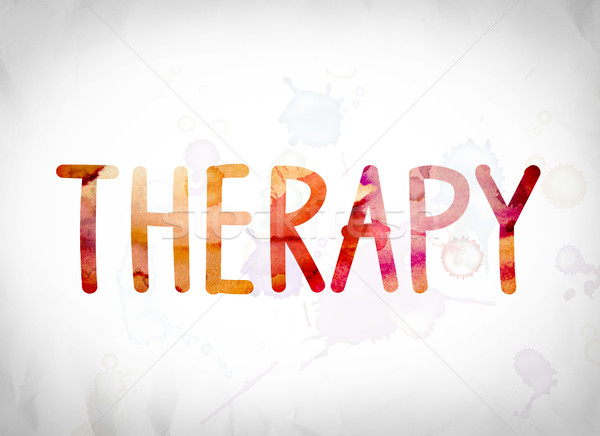 Therapy Concept Watercolor Word Art Stock photo © enterlinedesign