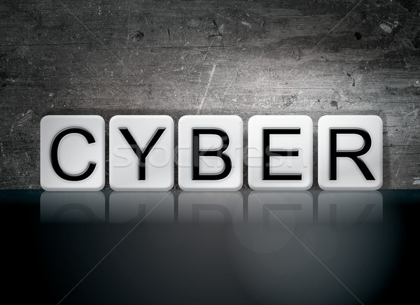 Cyber Tiled Letters Concept and Theme Stock photo © enterlinedesign
