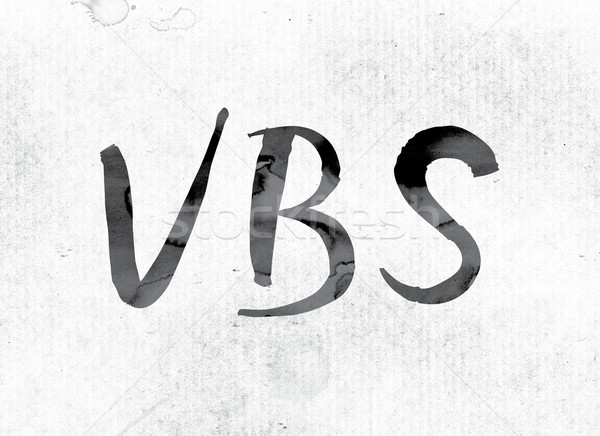 Stock photo: VBS Concept Painted in Ink