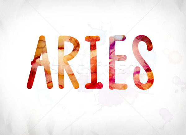 Aries Concept Painted Watercolor Word Art Stock photo © enterlinedesign