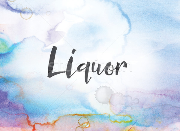 Liquor Concept Watercolor and Ink Painting Stock photo © enterlinedesign