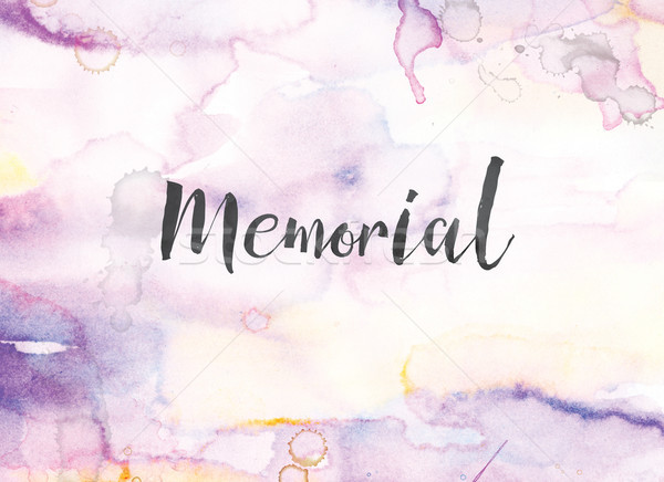 Memorial Concept Watercolor and Ink Painting Stock photo © enterlinedesign