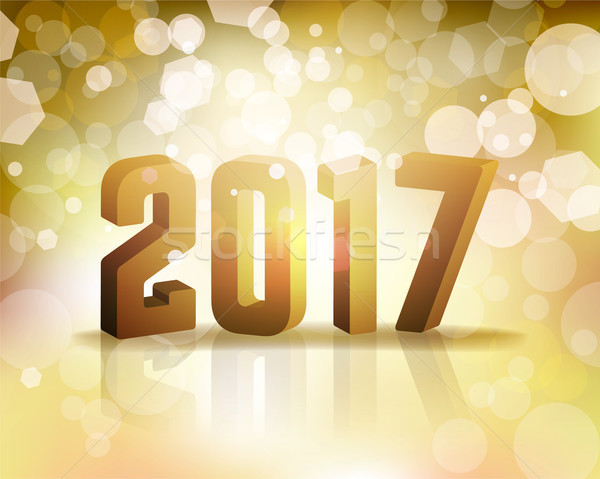 2017 New Year's Eve Concept Illustration Stock photo © enterlinedesign