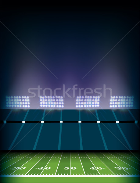 American Football Field Stadium Background Illustration Stock photo © enterlinedesign