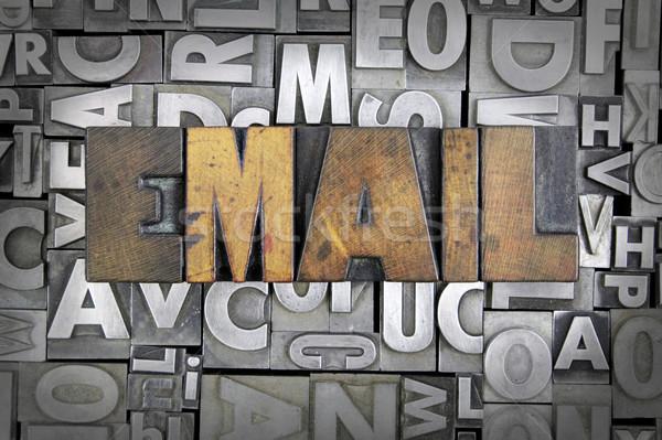 Foto stock: E-mail · escrito · vintage · tipo · projeto