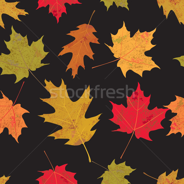 Colorful Tileable Autumn Leaves Illustration Stock photo © enterlinedesign