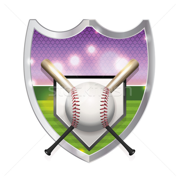 Baseball Emblem Illustration Stock photo © enterlinedesign