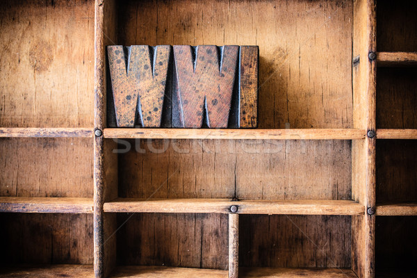 WWI Concept Wooden Letterpress Theme Stock photo © enterlinedesign