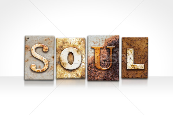 Soul Letterpress Concept Isolated on White Stock photo © enterlinedesign