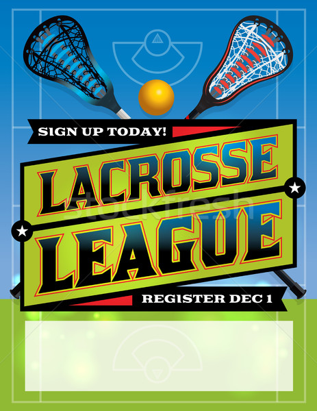 Lacrosse League Template Design Stock photo © enterlinedesign