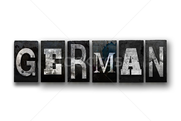 German Concept Isolated Letterpress Type Stock photo © enterlinedesign
