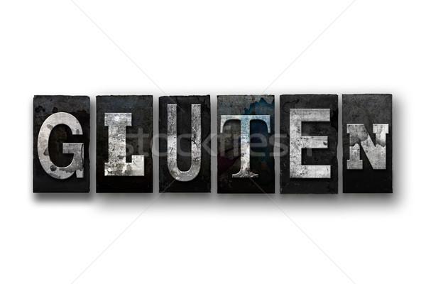клейковина изолированный тип слово написанный Сток-фото © enterlinedesign