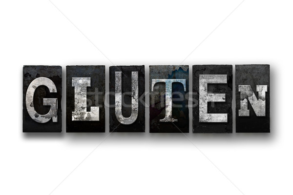 Glúten isolado tipo palavra escrito Foto stock © enterlinedesign