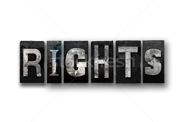 Rights Concept Isolated Letterpress Type Stock photo © enterlinedesign