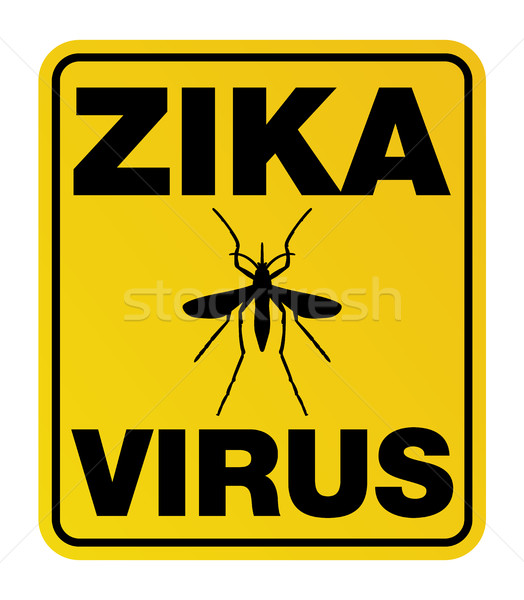 Yellow Zika Virus Warning Sign Stock photo © enterlinedesign