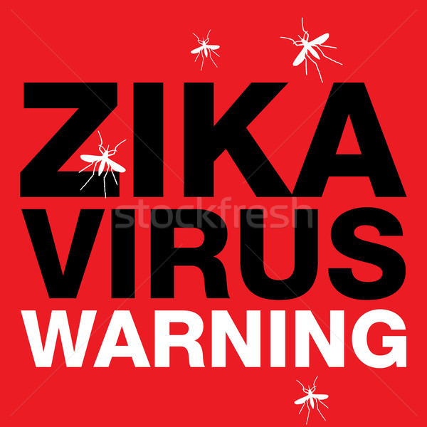 Zika Virus Red Warning Stock photo © enterlinedesign