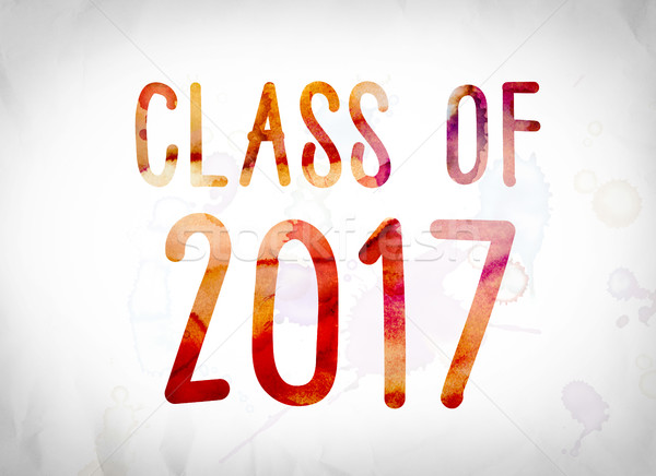 Class of 2017 Concept Watercolor Word Art Stock photo © enterlinedesign