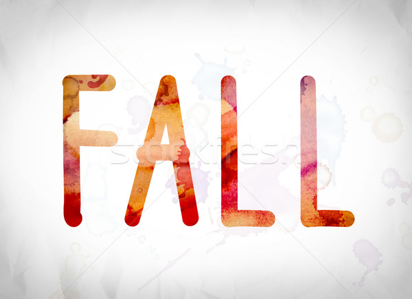 Fall Concept Watercolor Word Art Stock photo © enterlinedesign